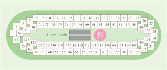メモリアルパークWith春日野 桜区画図