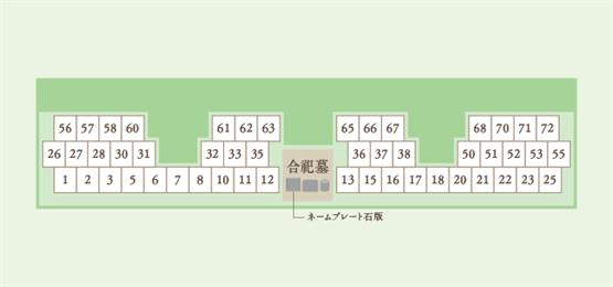 黒瀬樹木葬区画図
